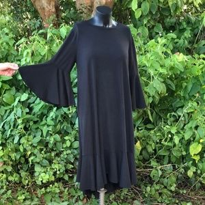 LulaRoe  Black Maurine Dress NWT Large